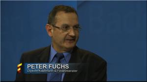 Finanzgutachter Peter Fuchs bei BadenTV zu Gast als Finanzexperte